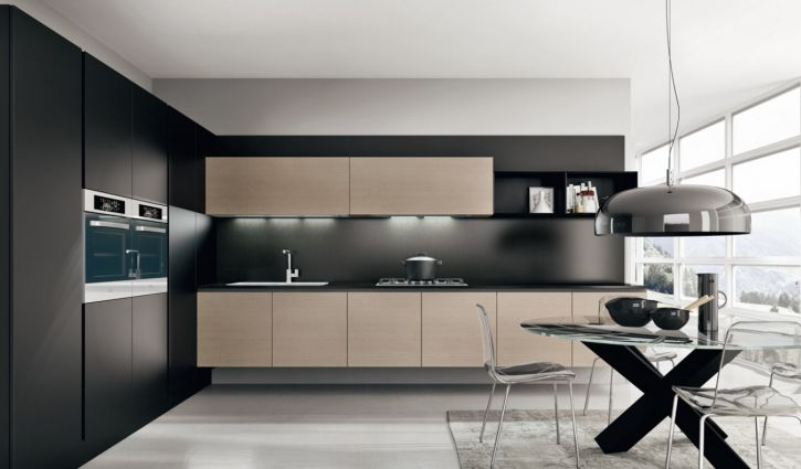 cuisine contemporaine. Black Bedroom Furniture Sets. Home Design Ideas